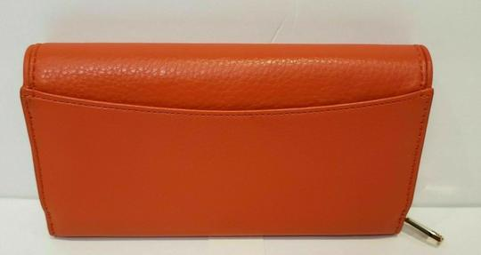 Tory Burch SPICED ORANGE BRITTEN DUO LEATHER ENVELOPE CONTINENTAL WALLET Image 8