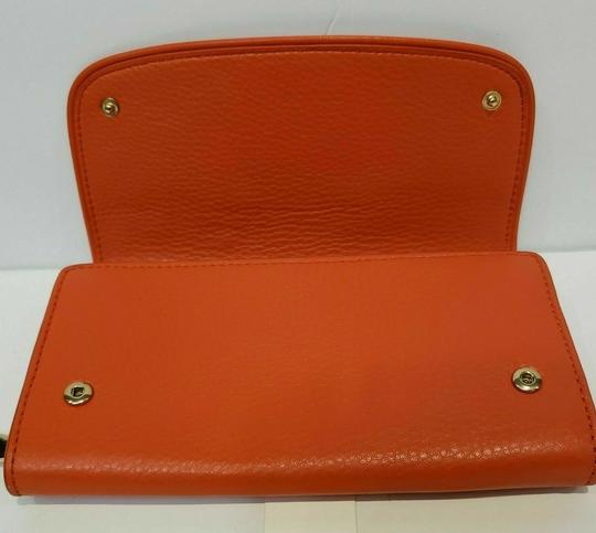 Tory Burch SPICED ORANGE BRITTEN DUO LEATHER ENVELOPE CONTINENTAL WALLET Image 9