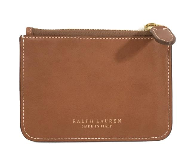 Item - Brown Made In Italy Leather Mini Zip Pouch Wallet