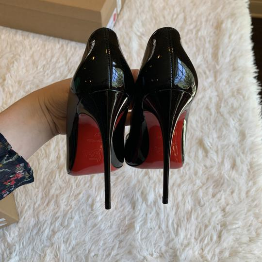 Christian Louboutin Blogger Work Night Out Patent Leather Classic Black Pumps Image 2