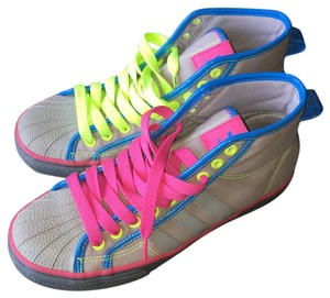 Adidas Neon Sneakers Pink Grey Athletic