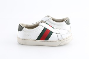 Gucci Multicolor Toddler Slip On Web Sneakers with Croc Trimmings Shoes