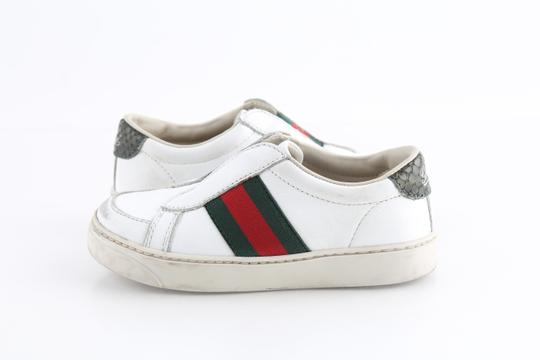 Gucci Multicolor Toddler Slip On Web Sneakers with Croc Trimmings Shoes Image 1