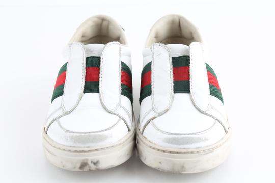 Gucci Multicolor Toddler Slip On Web Sneakers with Croc Trimmings Shoes Image 2