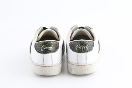 Gucci Multicolor Toddler Slip On Web Sneakers with Croc Trimmings Shoes Image 3