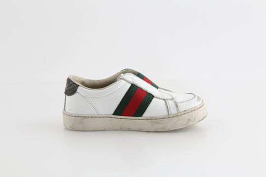 Gucci Multicolor Toddler Slip On Web Sneakers with Croc Trimmings Shoes Image 4
