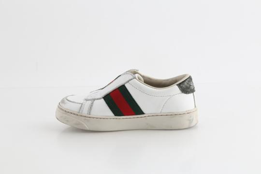 Gucci Multicolor Toddler Slip On Web Sneakers with Croc Trimmings Shoes Image 5