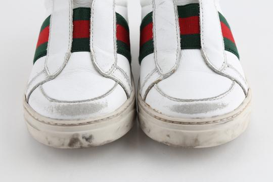 Gucci Multicolor Toddler Slip On Web Sneakers with Croc Trimmings Shoes Image 6