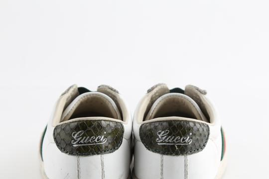 Gucci Multicolor Toddler Slip On Web Sneakers with Croc Trimmings Shoes Image 7