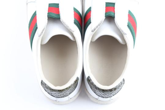 Gucci Multicolor Toddler Slip On Web Sneakers with Croc Trimmings Shoes Image 9