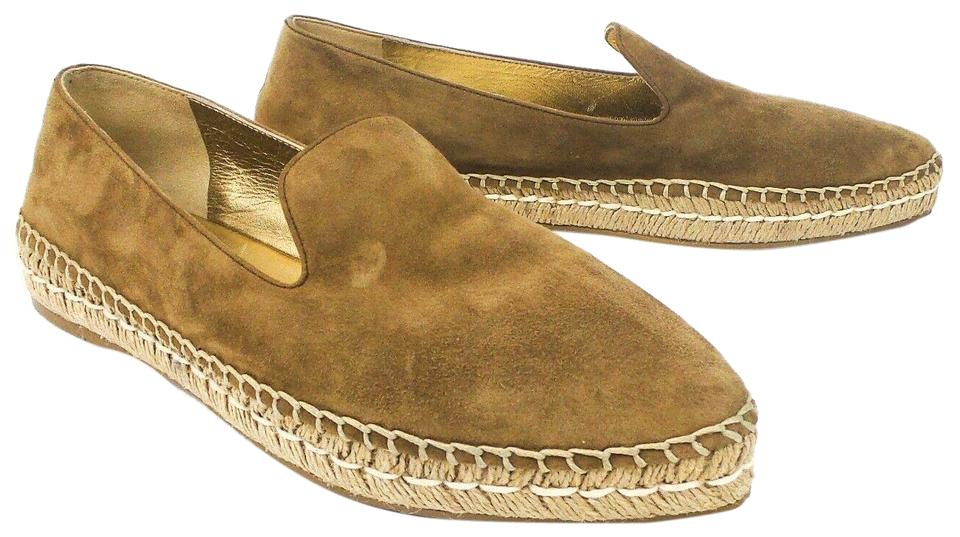 replicas check out nice cheap Taupe Suede Espadrilles Flats