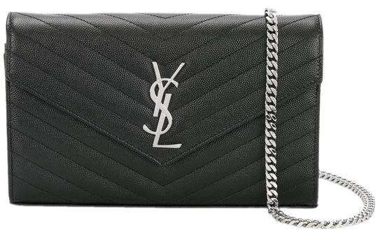 Saint Laurent Wallet On Chain Ysl Monogram Envelope Woc