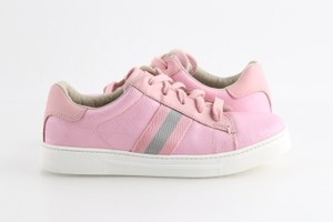 Gucci Pink Imprime Web Lace-up Sneakers Shoes