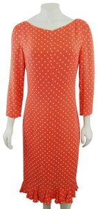 Valentino Boutique Vintage Coral Polka Dot Dress