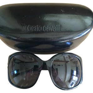 Roberto Cavalli Roberto Cavalli Black Sunglasses with Crystal Logo