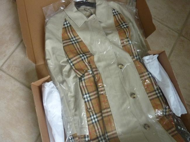 Burberry Logo Fall Trench Coat Image 3