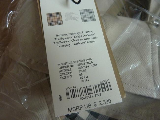 Burberry Logo Fall Trench Coat Image 4