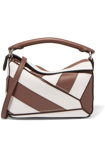 Item - Shoulder Puzzle Mini Two-tone Textured-leather Cross Body Bag