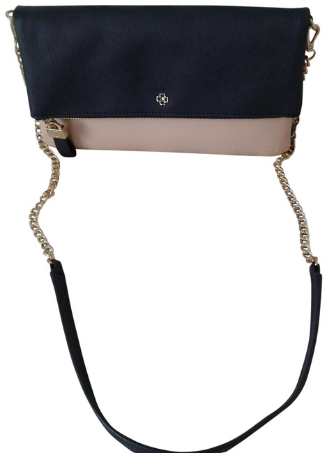 Item - Or Shoulder Style Navy and Ivory Leather Cross Body Bag