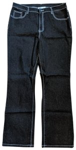 Diane Gilman Size 14 New Boot Cut Jeans-Dark Rinse