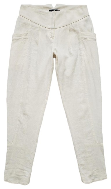Preload https://img-static.tradesy.com/item/25792666/piazza-sempione-ivory-cream-stretch-linen-cotton-pleated-tapered-ankle-it-38-pants-size-2-xs-26-0-1-650-650.jpg