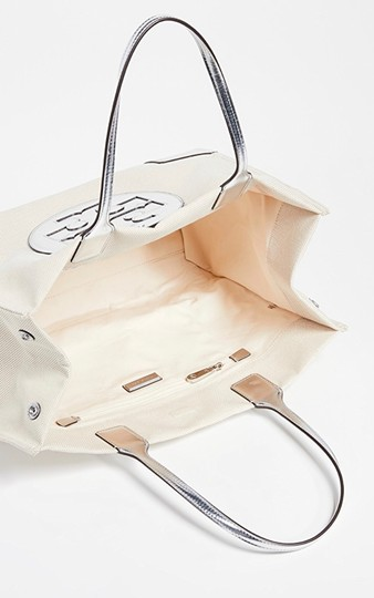 Tory Burch Tote in Sliver/Natural Image 1