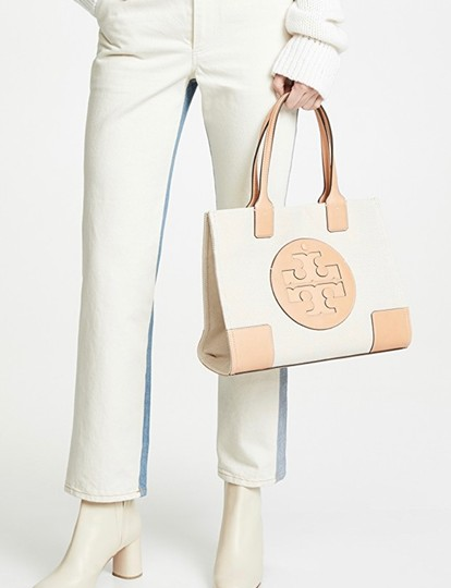 Tory Burch Tote in Sliver/Natural Image 2