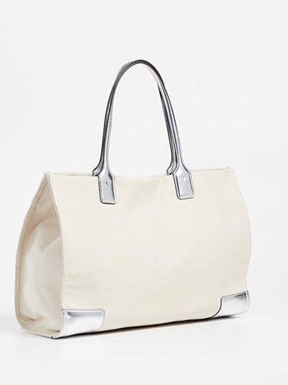 Tory Burch Tote in Sliver/Natural Image 3