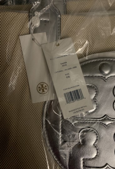 Tory Burch Tote in Sliver/Natural Image 4
