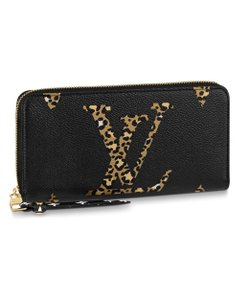 Louis Vuitton Monogram Giant Jungle Zippy Wallet Black & Caramel