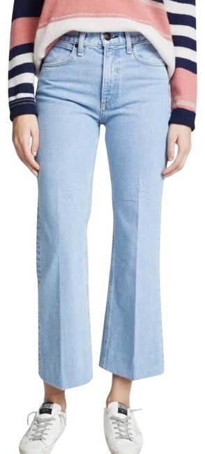 Item - Blue Nelly Crop Flare Trouser/Wide Leg Jeans Size 6 (S, 28)