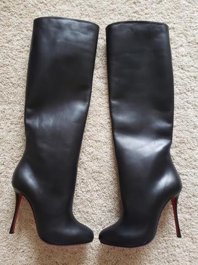 Christian Louboutin Vitish Knee High Botta So Kate Pigalle Black Boots Image 4