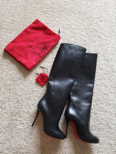 Christian Louboutin Vitish Knee High Botta So Kate Pigalle Black Boots Image 6