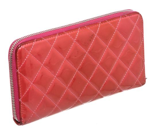 Chanel Chanel Pink Quilted Patent Leather Zippy Wallet Image 2