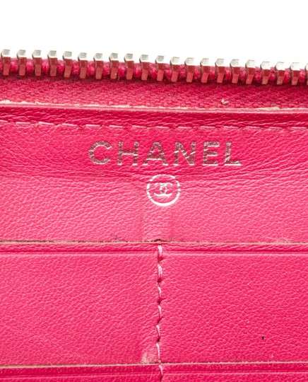 Chanel Chanel Pink Quilted Patent Leather Zippy Wallet Image 6