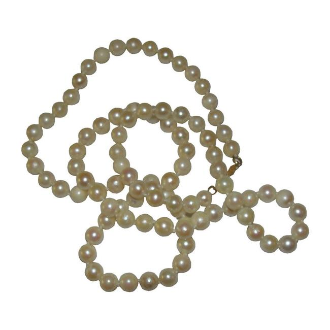 Item - Yellow Gold 14 Kt Creamy White Cultured Pearl Necklace