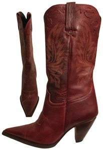 Charlie 1 Horse by Lucchese Leather Western Cowboy Pointed Toe Hand Made Brown red Boots