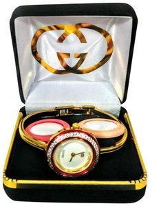 Gucci Vintage Gucci multi color interchangeable bezel Swiss made watch