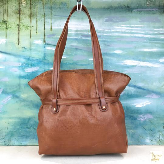 Céline Leather Shoulder Gold-tone Hardware Tote in Brown Image 1