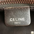 Céline Leather Shoulder Gold-tone Hardware Tote in Brown Image 8