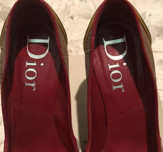 Dior Beige Yellow green red Pumps Image 1