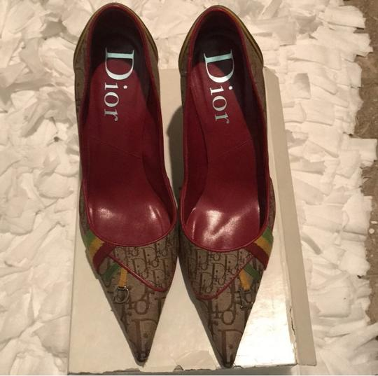 Dior Beige Yellow green red Pumps Image 4
