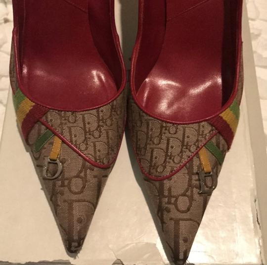 Dior Beige Yellow green red Pumps Image 5