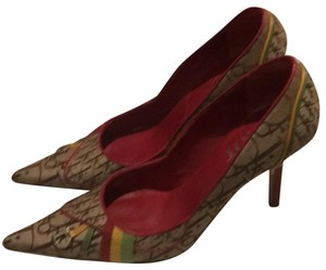 Dior Beige Yellow green red Pumps