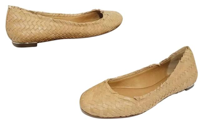 Item - Brown Florence Women's Natural Leather Woven Slip On Flats Size US 8 Regular (M, B)