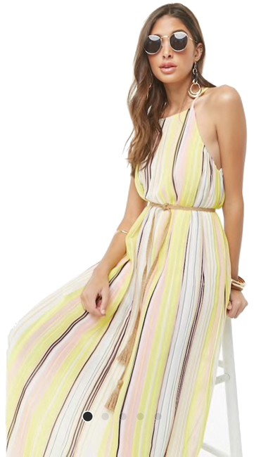 Preload https://img-static.tradesy.com/item/25794858/forever-21-multicolor-pleated-color-long-night-out-dress-size-2-xs-0-1-650-650.jpg
