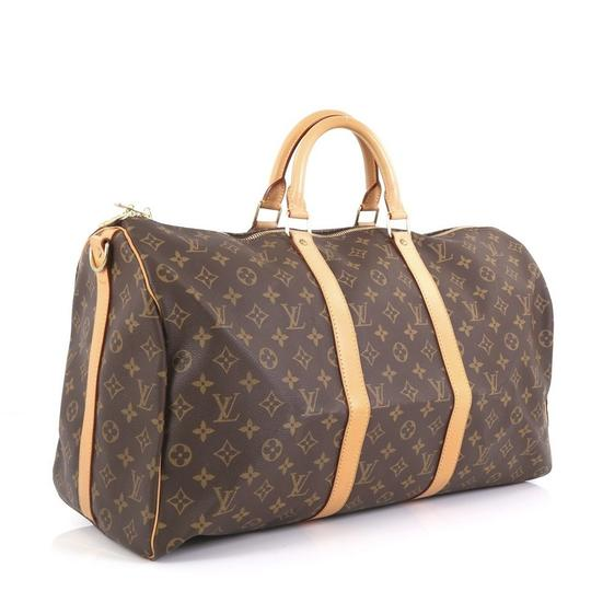 Louis Vuitton Keepall Bandouliere brown Travel Bag Image 1