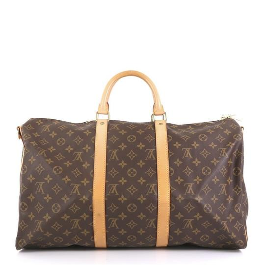 Louis Vuitton Keepall Bandouliere brown Travel Bag Image 2