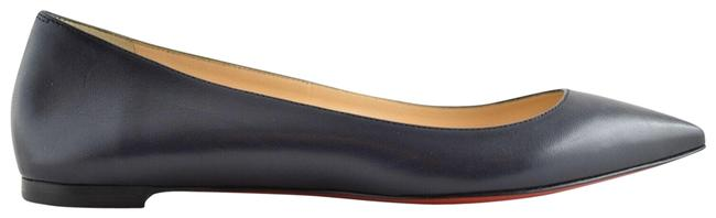 Item - Blue Ballalla Marine Nappa Leather Pointed Toe Ballerina Ballet Flats Size EU 36.5 (Approx. US 6.5) Regular (M, B)