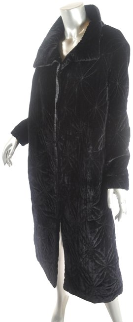 Preload https://img-static.tradesy.com/item/25794879/ghost-black-softest-rayon-silk-velvet-quilted-button-down-coat-jacket-size-6-s-0-1-650-650.jpg